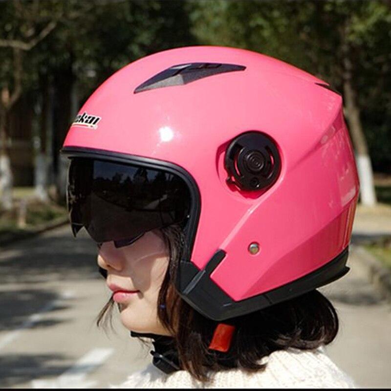 Motorcycle 3/4 Anti-UV DUAL VISORS Helmet scooter vintage helmets Motocicleta Cascos Moto DOT ECE motorbike men woman helmet
